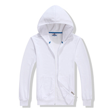 French Terry wholesale plain white hoodies with pocket