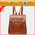 Wholesale backpacks china fashion genuine leather backpack for lady