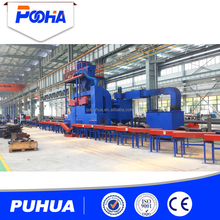 H beam I beam steel structure paint/rust cleaning machine