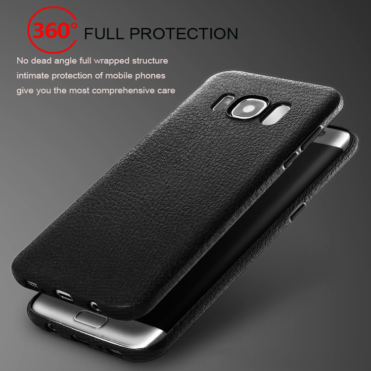 NEW Ultra thin leather pattern soft TPU case for Galaxy S8 ,Litchi pattern silicone back cover for Samsung S8/S8 plus