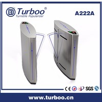 CE approved well used smart RFID interface touch control bus station turnstile 304 stainless steel flap barrier turnstile gate