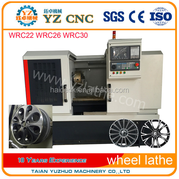 alloy wheel repair diamond cutting CNC lathe WRC30