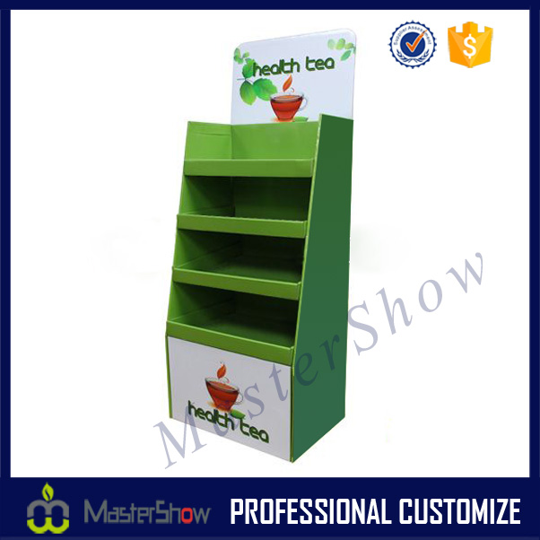 Supermarket Promotional tea cup cardboard stand holder rack display