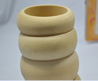 WOD053 Newly Simple Classic Pure Wood Bangle Wholesale Unfinished Wood Bangles