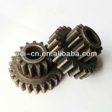 powder coated small module double spur gear