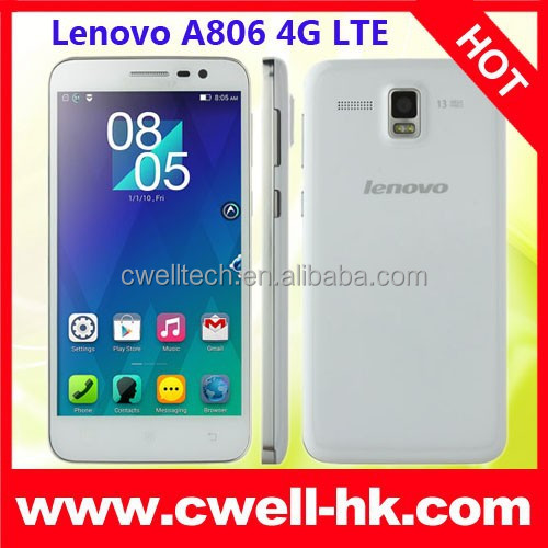"Original Lenovo A806 Mobile Phone Android 4.4 5.0"" 720P 2G RAM A806 16GB ROM 4G LTE Phone 13MP Lenovo Camera Smartphone"