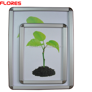 32mm round corner aluminum alloy snap photo frame for Advertising Display