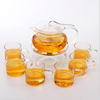 arabic clear glass tea set with tray