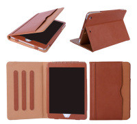 Smart stand leather tablet case cover for Apple ipad mini air pro 2 3 4 with dormant function