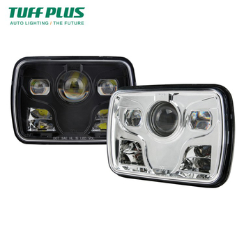 5x7 inch square high low beam DOT led headlight for truck