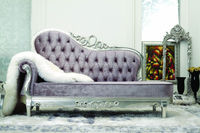 silver chaise lounge / french antique louis chaise lounge YZ-A7004