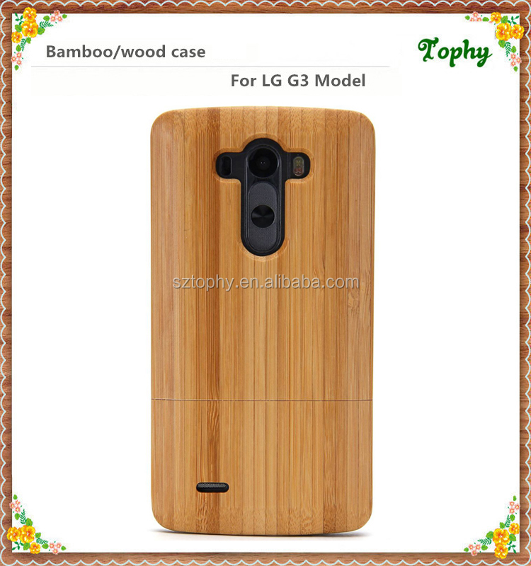 Factory wholesale popular mobile cover for lg g3 wooden, custom bamboo phone cases for lg mobile