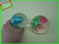Logo printing plastic spider toys squishy ball