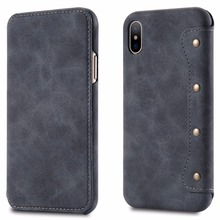 OEM Logo Luxury PU Leather Case for iPhone X Flip Case Hot Selling In Alibaba