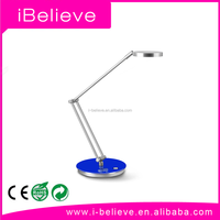 Adjustable Double colour temperature 9W Silver Nail Art LED Table Lamp cordless crystal chandelier table lamp
