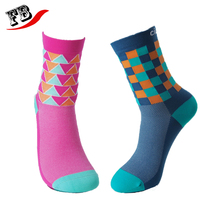 Custom colorful fashion cycling socks wholesale nylon bike socks