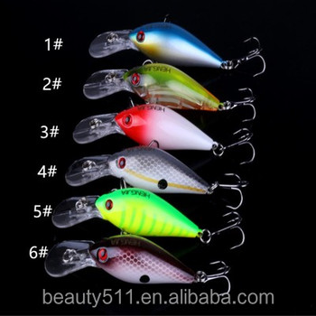 HOT sale 3D Eye Artificial Bait fishing lure Lures 6# Hook 8cm 8.5g crank Fishing Lure Hard Artificial Swim Baits 5 colour