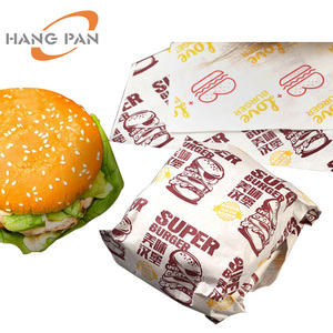 Food hamburger Sandwich packaging wax paper with logo
