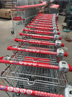 Steel handle Coin Lock for shopping trolley &cart