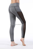 Brand new design wholesale women's sexy mesh patchwork yoga pant