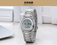 The Elegant Modeling Style Muslim Waterproof Azan Wrist Watch with Islamic Calendar