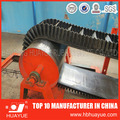 Corrugated sidewall with cleat rubber conveyor belt