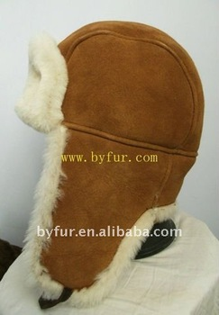 BY-SP005 Shearing Sheepskin Trapper Hat