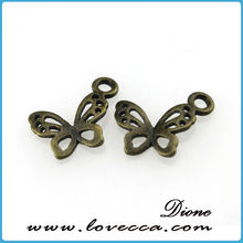 Antique Bronze Plated Two Holes Butterfly Metal Charms&Pendant for DIY Jewelry Making