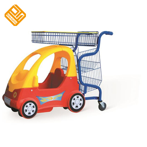 Shopping Mall Children Supermarket Cart with Seat