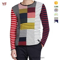 men's latest colorful design cotton sweater