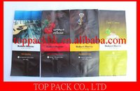 flexible laminated coffee packaging bags with one way degassing valve