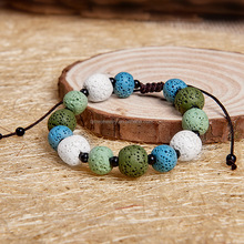 diffuser healing fertility multicolored lava bracelet gemstone therapy jewelry
