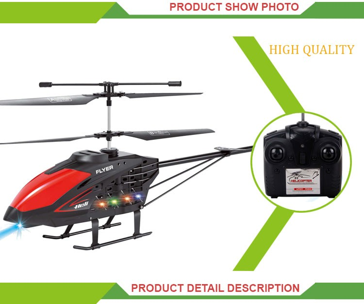 New product remote control toy 3.5 channel alloy structure rc helicopter