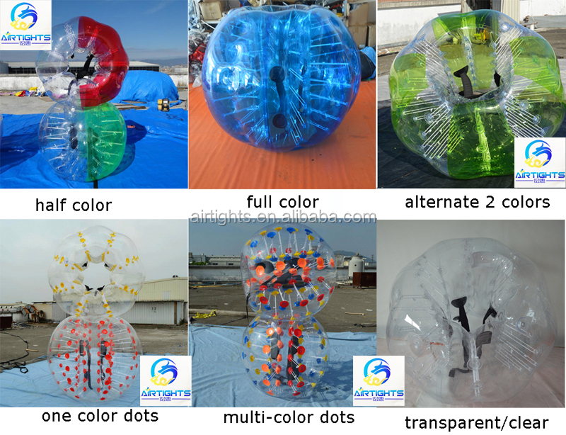 1.0mm 100% PVC Bubble Ball, Inflatable Bumper Balls