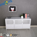 Modern White Tv Entertainment Center Console Cabinet Stand With 3 Doors And Shelves