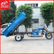 Wholesale Good Design 200cc Gas Motor Tricycle Blue Color With Long Cargo Box For Indian Market