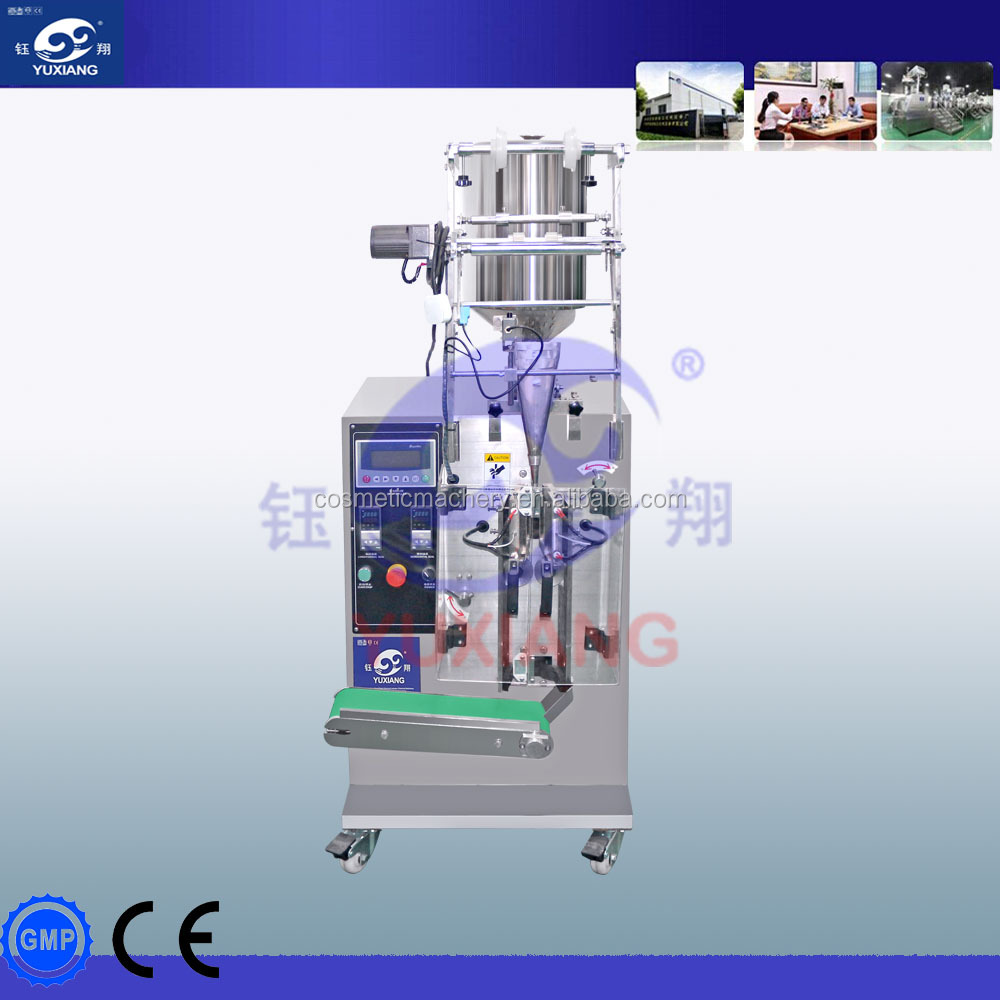 Automatic three side sachet shampoo filling packing machine