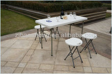4FT outdoor rectangle small folding table camping furniture ( HDPE below molded very convenient