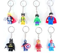 Wholesale 2015 New Plastic Avengers 2 Captain America/Iron Man/Hulk/Batman Keychains Anime Keyrings for Gifts