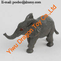 Educational toy wild animal plastic elephant figurines
