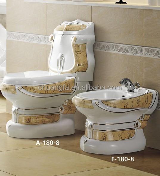 Bagno design decorato due pezzi tazza del water suite con for Tazza del bagno