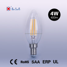led filament bulb candle and flame shape bulb c35 and c35t ,instead of vintage edison bulb china zhejiang
