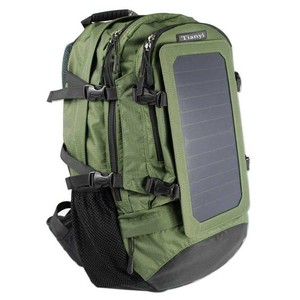 Travel Solar Panel Charge Laptop Daypack Hiking Camping Military Backpack Black X-Large Bag