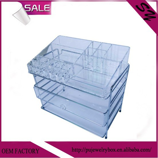 Clear color <strong>Acrylic</strong> four layers makeup storage box