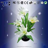 2015 no moq new style sparkling LED electric Fiber silk optic flowers/home decoration
