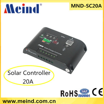 20A solar charge controller for home solar system 12v/24v auto