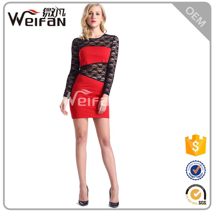 2016 Red tube sex women party dress or christmas