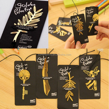 Creative Nice Hollow Angel Feather Leaf Key Style Bookmark Book Accessory