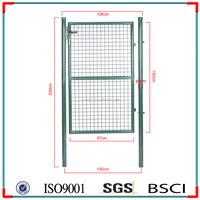 Galvanized and Powder coated decoration euro single garden gate/garden fence gate