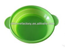 multi-function collapsible silicone mixing bowl